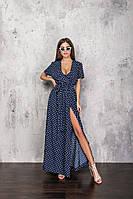 Женское длинное платье на запах.Размеры:42/44,46/48+Цвета