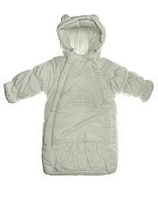 Детский комбинезон для девочки Верхняя одежда для девочек Ля-ля Украина 17Ш01-3-12Д Молочный