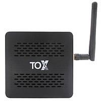 Смарт ТВ приставка TOX1 4/32 GB Amlogic S905X3 Android TV Box, фото 1