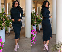 Женское платье,материал:тёплая ангора,длинное с карманами(44-54), фото 1