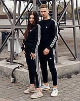 Спортивный костюм мужской, женский Adidas Black весна/лето/осень - Адидас Черный