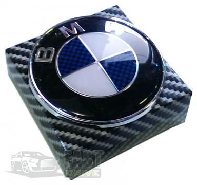 "Эмблема  ""BMW""  74мм (малая)\пластик\2 пукли (Турция) тех пакет \ на багажник"