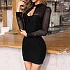Жіноче плаття стильне,Тканина креп-дайвінг, Сукня зі вставками(42-46)