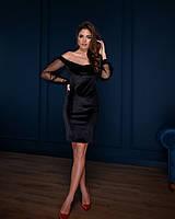 Жіноче плаття стильне,Тканина креп-дайвінг, Сукня зі вставками(42-46), фото 1