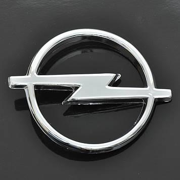 """Эмблема """"Opel""""  90х112мм\пластик\хром\1 пукля"""
