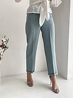 Летние женские брюки из легкой ткани со стрелками