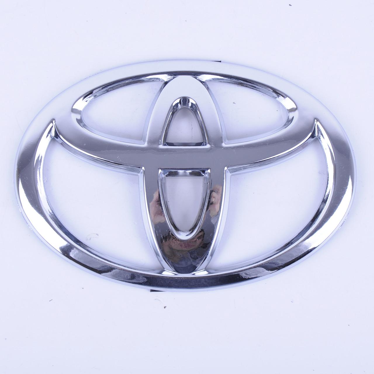 "Емблема ""Toyota"" 140х95мм пластик/6 пукли (Corolla 2009-2013 р. перед) (Туреччина) Накладка"
