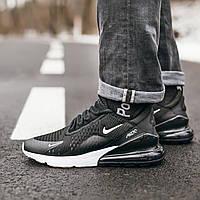 Мужские кроссовки Nike Air Max 270 Black White найк аир макс 270 реплика