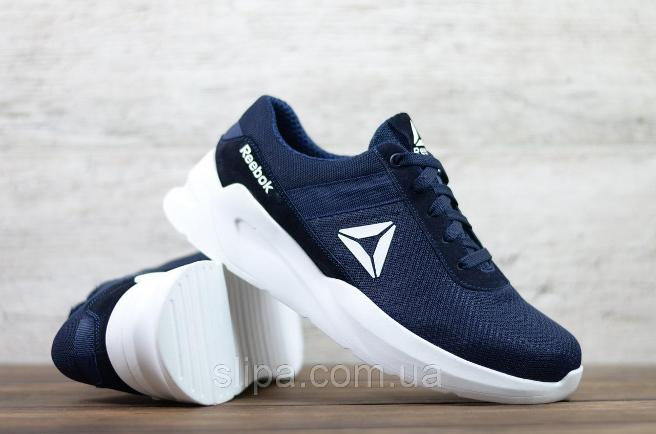 Мужские кроссовки в сетку Reebok, тёмно-синие