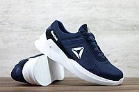 Чоловічі кросівки в сітку Reebok, темно-сині, фото 1