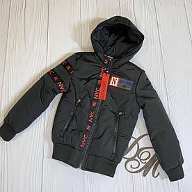 """Куртка демисезонная на мальчика """"Плей"""" черный с красным 122"""