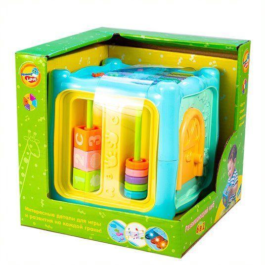 """Интерактивная игрушка """"Развивающий куб"""" 6в1 Mommy Love 0913-38"""