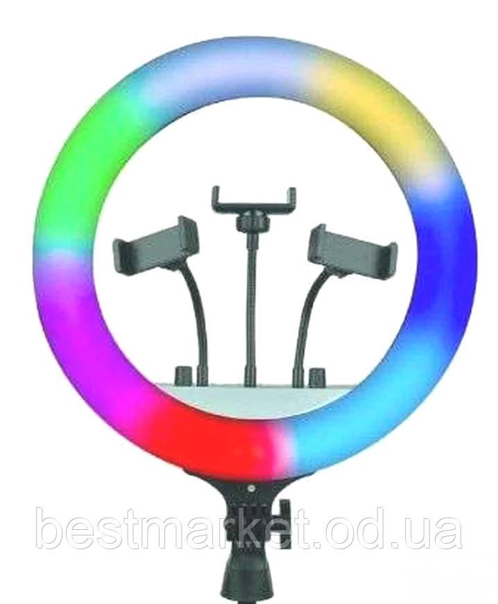 Кільцева Світлодіодний RGB Led Лампа з Тримачем для Телефону Ring Light 36см