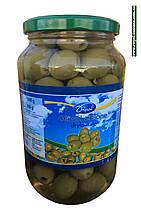 Оливки зеленые без косточек Dripol, 1000г (Польша)