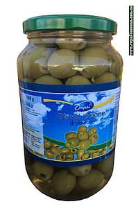 Оливки іспанські зелені, без кісточок Dripol, у великій банці 1000г (Польща)