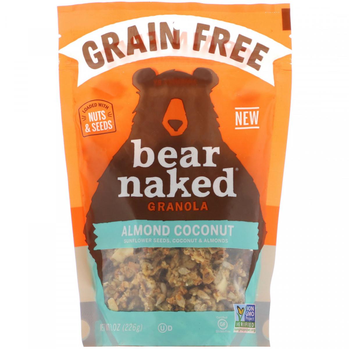 Беззерновая гранола, мигдаль і кокос, Bear Naked, 226 г
