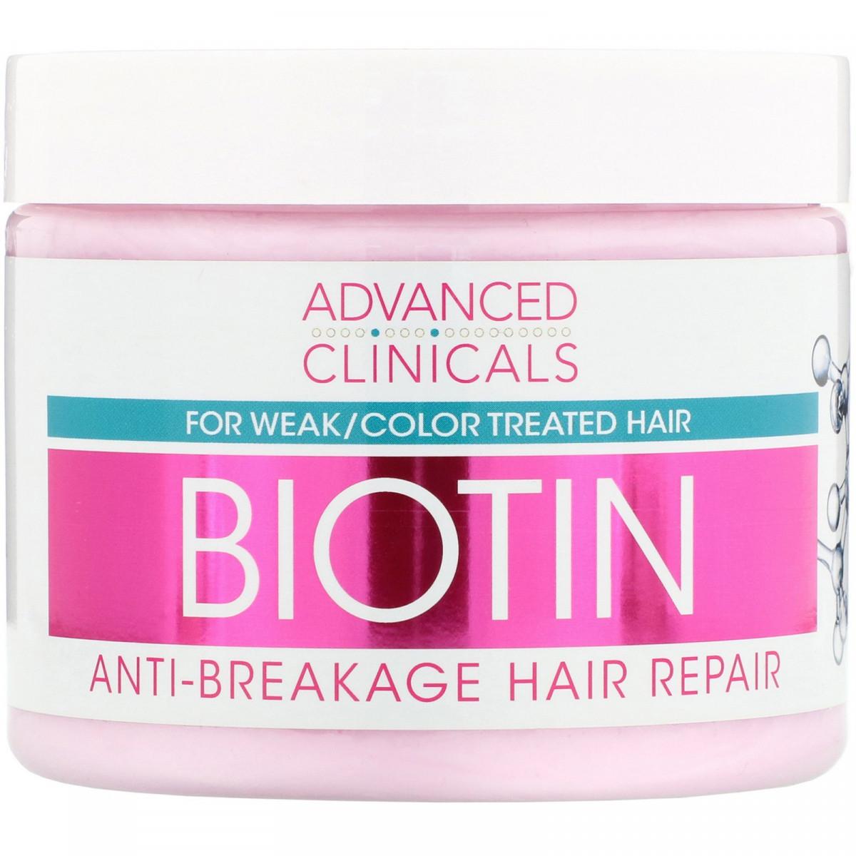 Биотин, восстанавливающий, для волос, Advanced Clinicals, 355 мл