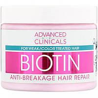 Біотин, відновлювальний, для волосся, Advanced Clinicals, 355 мл, фото 1