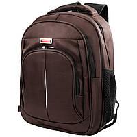 Мужской смарт-рюкзак (3DETAB10-10) Valiria Fashion 27х36х11 см Коричневый