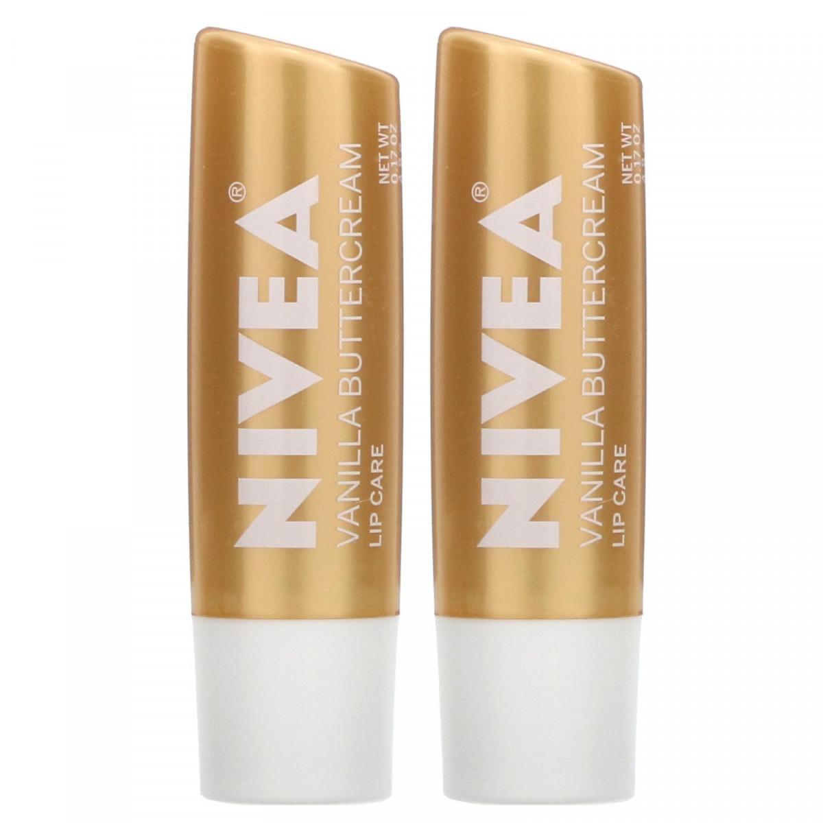 Ванильный сливочный крем, Nivea, 2 упаковки, 0,17 унции (4,8 г) каждая