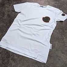 Мужская футболка Moncler CK2097 белая