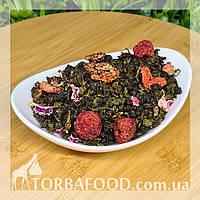 Чай зелений Оолонг з полуницею і малиною, 100 г