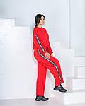 Женский спортивный костюм, трикотаж - двунить, р-р 42-44; 46-48; 50-52 (красный), фото 2