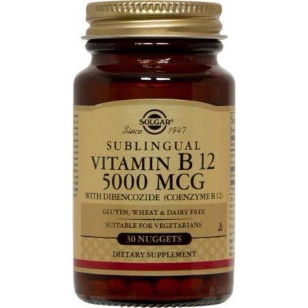 Вітамін В12, Megasorb Vitamin B12, Solgar, 5000 мкг, 30 таблеток