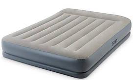 Велюр кровать надувная Intex 64118 со встроенным электронасосом