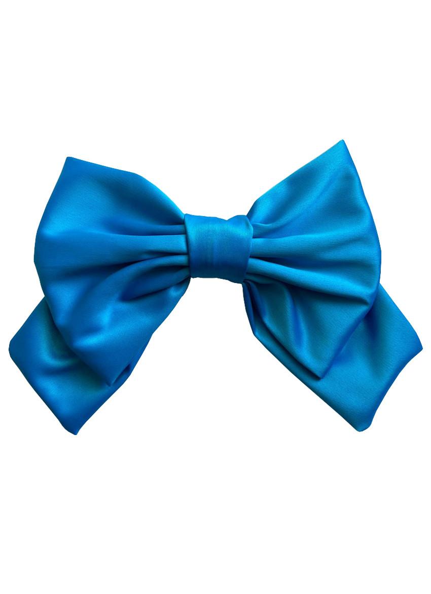 Большой голубой luxury бант - украшение для волос от myscarf