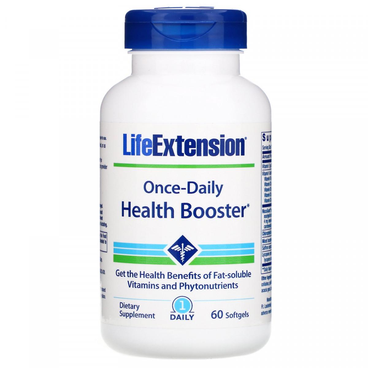 Витамины для здоровья, Once-Daily Health Booster, Life Extension, 60 мягких капсул