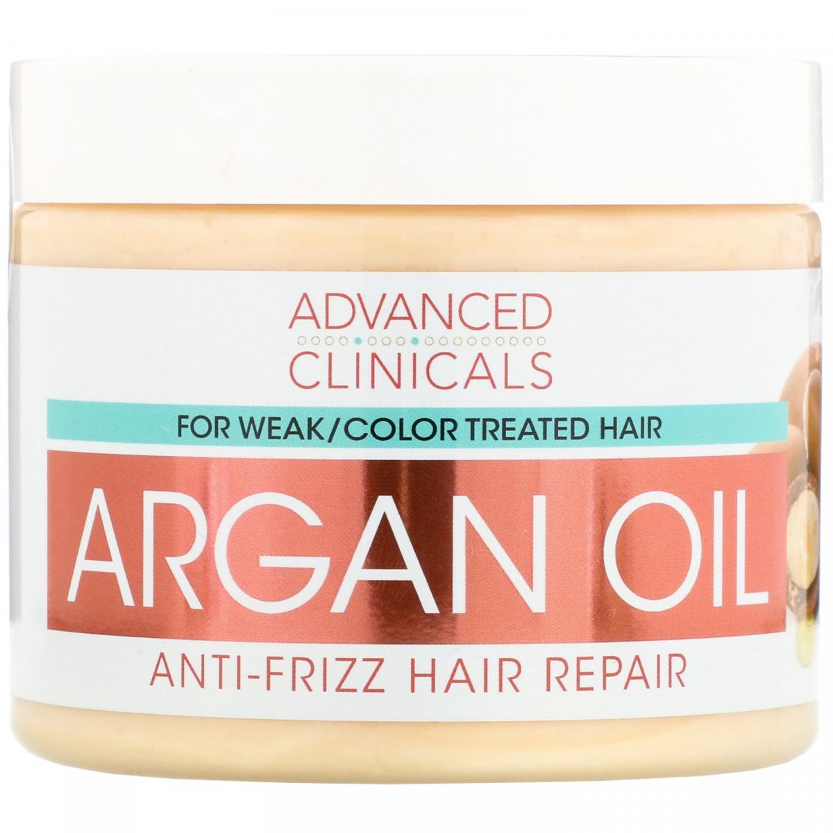 Арганова олія, відновлення волосся, Argan Oil, Anti-Frizz Hair Repair, Advanced Clinicals, 355 мл