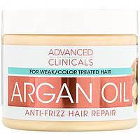 Арганова олія, відновлення волосся, Argan Oil, Anti-Frizz Hair Repair, Advanced Clinicals, 355 мл, фото 1