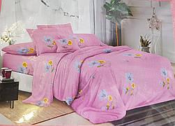 Постельное белье розовое с цветами 3D Лери Макс 13