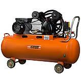 Компресор ремінною V 2.5 кВт 100л (2 крана) Grad (7044185) + Набір лакофарбовий 5шт з/б GRAD, фото 2