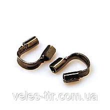 Затискач Протектор ювелірного троса Чорний 5х6 мм 10 шт