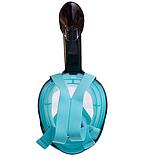 Маска для снорклінга з диханням через ніс Zelart (YSE-S52), фото 4