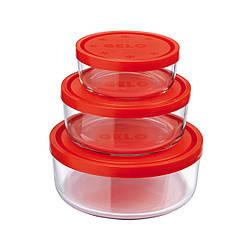 Набор контейнеров с крышкой крышками GELO 3 предмета 226017s02021990 BORMIOLI ROCCO
