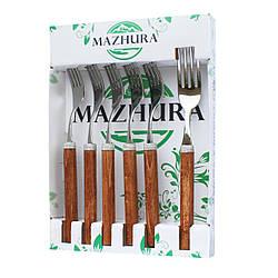 Набор вилок 6 приборов Wood walnut mz505658 MAZHURA