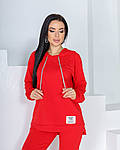 Женский спортивный костюм, трикотаж -  двунить, р-р 42-44; 46-48; 50-52 (красный), фото 3