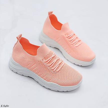 Кросівки жіночі персикові, фото 2