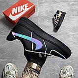 Мужские/Женские кроссовки Nike Air Force Low Black Reflective, фото 4