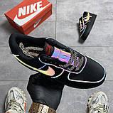 Мужские/Женские кроссовки Nike Air Force Low Black Reflective, фото 5