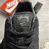 Женские кроссовки Nike Air Force 1 Low Stussy Black, фото 2