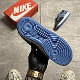 Жіночі кросівки Nike Air Force 1 Low Travis Scott Blue, фото 2
