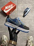 Жіночі кросівки Nike Air Force 1 Low Travis Scott Blue, фото 4