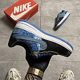 Жіночі кросівки Nike Air Force 1 Low Travis Scott Blue, фото 6