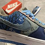 Жіночі кросівки Nike Air Force 1 Low Travis Scott Blue, фото 7