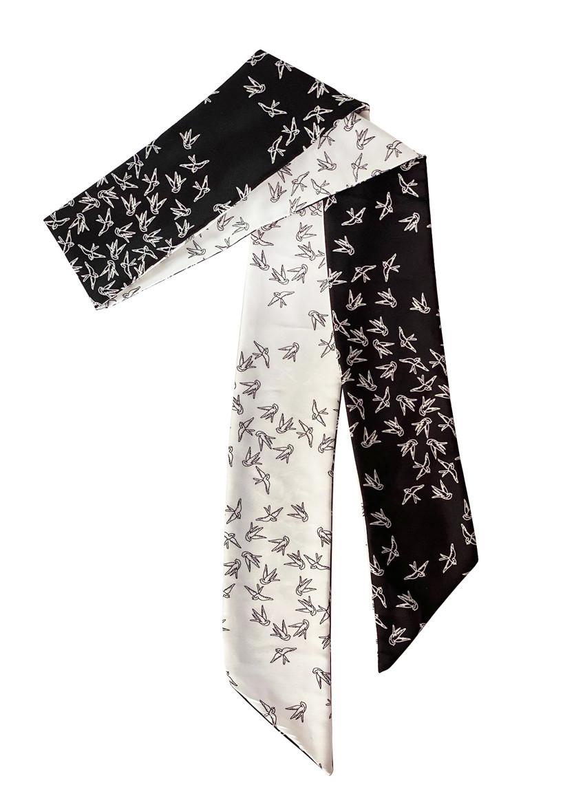 """Стильный платок """" небесные ласточки"""" , галстук твилли, лента для волос от myscarf"""