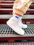 "Мужские/Женские кроссовки Nike Air Jordan 1 Mid ""White"", фото 4"